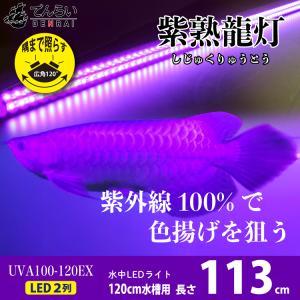 LED二列 アロワナ ライト 照明 ナイトメロー 紫外線100% LED 水中 上部 水中蛍光灯 熱...