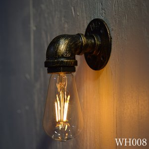 壁 照明 ブラケットライト インダストリアル レトロ アンティーク スチームパンク ランプ  LED 洗面所 型番WH008|denraiasia