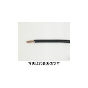 フジクラダイヤケーブル EM-IE2.0mm 黒>600V耐燃性ポリエチレン絶縁電線 300m巻 densetu