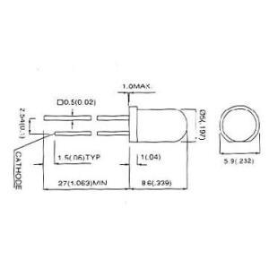 自己点滅型黄色高輝度LED(5φ)/ 10本 5Y3SCBL-2|denshi