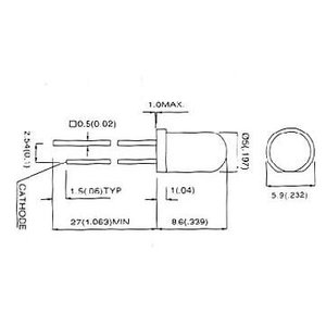 自己点滅型緑色高輝度LED(5φ)/ 10本 5G3SCBL-2|denshi
