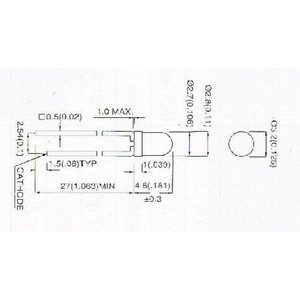 【郵便代込・送料無料】拡散タイプ緑色LED(3φ)-10本-3G4HD-6|denshi