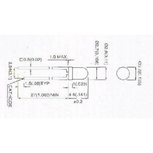 【郵便代込・送料無料】拡散タイプ赤色LED(3φ)-10本-3R4HD-6|denshi
