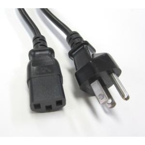 日本ACコード 3ピン-C13 PSE(ブラック)7A/125V|denshi