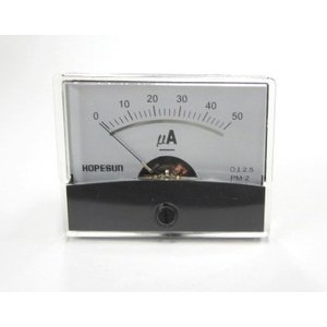 アナログDC電流パネルメーター50uA-60×47 denshi