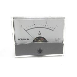 アナログDC電流パネルメーター3A-60×47mm denshi