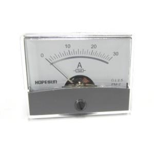 アナログDC電流パネルメーター30A-60×47mm denshi