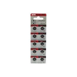 時計用ボタン電池 LR1130/AG10 10個 denshi