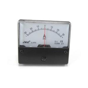 アナログ直流電流パネルメーター+/-30A(シャント内蔵タイプ)70×60mm|denshi