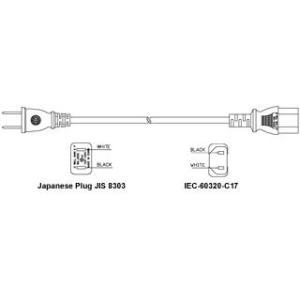 日本ACコード 2ピン-C17/VCTF1.25 PSE|denshi