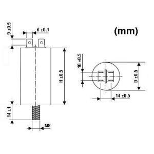 モーターランキャパシタ 25uF / 450V|denshi|02