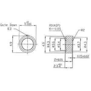5mmレーザーダイオード用レンズ 5個セット denshi