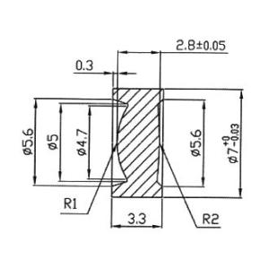7mmレーザーダイオード用レンズ 5個セット denshi