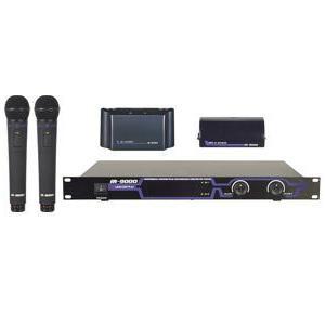 VocoPro プロフェッショナル赤外線デュアル充電式ワイヤレスマイクシステム IR-9000|denshi