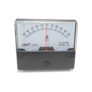 アナログ直流電流パネルメーター+/-DC50A(シャント外付タイプ)|denshi