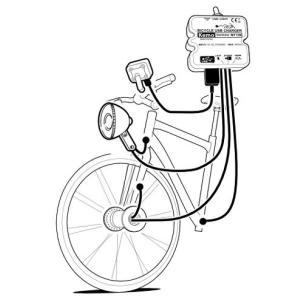 自転車ダイナモ→5V/500mA USB充電器 M172N|denshi