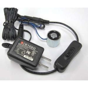 電磁石(12VDC-直径25mm-6kg)+電源+スイッチ付|denshi