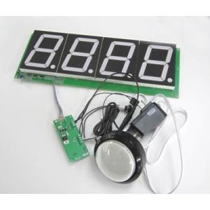 100mm大型7セグLED カウンターモジュール CD-3.4+電源+スイッチセット|denshi