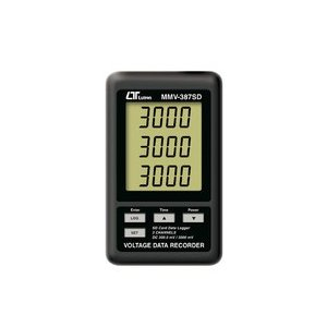 SDカードリアルタイムデータロッガ 3チャンネル電圧(DC300.0mV/3000mV)レコーダー MMV-387SD|denshi