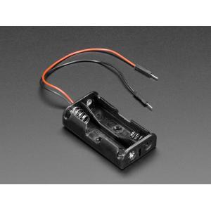 単3x2電池ホルダー+ジャンパーオスワイヤー|denshi