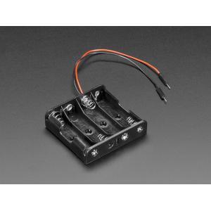 単3x4電池ホルダー+ジャンパーオスワイヤー|denshi