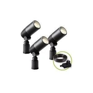 GARDEN LIGHTS - ALDERセット(3本) - スポットライト- 12V-120lm-2W-3000K-専用電源付|denshi