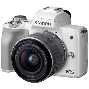 CANON EOS Kiss M EF-M15-45 IS STM レンズキット ホワイト 新品|densidonya