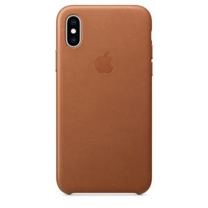Apple(アップル)純正 iPhone XS(5.8インチ)レザーケース サドルブラウン MRWP2FE/A 新品 メール便|densidonya