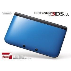 中古 任天堂 ニンテンドー3DS LL ブルー×ブラック ニンテンドー3DS本体 densidonya
