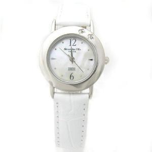 ALESSANDRA OLLA アレサンドラオーラ AO-6900-WH 「女性用腕時計 ダイヤ2石 AO-6900 WH レディース」|dentarou