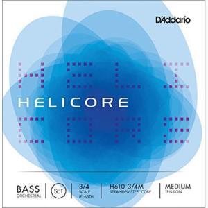 DADDARIO 0019954179014 D'Addario ウッドベース(コントラバス)弦 H610 3/4M Helicore Orchestral Bass Strings SET|dentarou