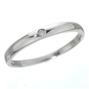 超目玉 ds-190648 K18 ワンスターダイヤリング 指輪 登場大人気アイテム WG ds190648 19号 K18ホワイトゴールド