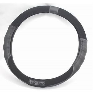 ds-990648 SPARCO(スパルコ) ステアリングカバーMサイズ (380〜390mm) スエード SPC1108BK_J (ds990648)|dentarou