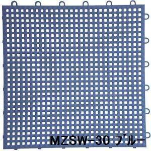 ds-1284511 水廻りフロアー サワーチェッカー MZSW-30 30枚セット 色 ブルー サイズ 厚13mm×タテ300mm×ヨコ300mm/枚