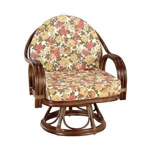 ds-1569448 座椅子 天然籐360度回転チェア 高さが選べるゆったり ハイタイプ 格安 価格でご提供いたします 驚きの値段で 木製 肘掛け付き 約42cm 座面高 持ち手