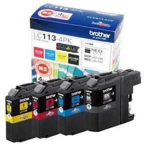 ds-1573350 新登場 まとめ ブラザー BROTHER インクカートリッジ お徳用 4個:各色1個 LC113-4PK 4色 ×3セット 再販ご予約限定送料無料 ds1573350 1箱