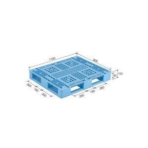 ds-1647361 三甲 サンコー 贈物 プラスチックパレット プラパレ 片面使用型 PP 青 正規品スーパーSALE×店内全品キャンペーン D4-911 ライトブルー ds1647361