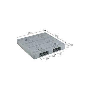 ds-1647420 ファクトリーアウトレット 三甲 サンコー プラスチックパレット 世界の人気ブランド プラパレ 両面使用型 段積み可 灰 ライトグレー ds1647420 R2-1111F-8