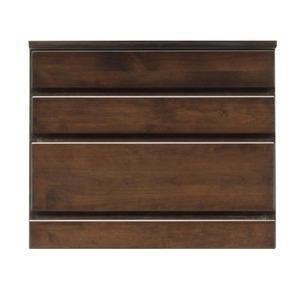 ds-1652623 3段チェスト ローチェスト 幅60cm 木製 卓出 完成品 新作続 天然木 日本製 開梱設置 ダークブラウン