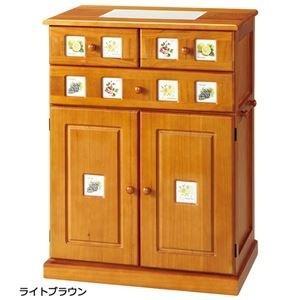 <title>ds-1669517 キッチンカウンター 幅60cm 木製 天然木 引き出し 可動棚 フック 隠しキャスター付き お金を節約 ライトブラウン</title>