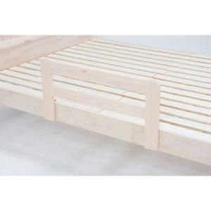 ●ベッドサイドにベッドガードを組み合わせることで、掛け布団の落ち込みや就寝時の転倒を防止します。