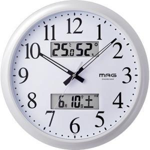 【納期目安:1週間】MAG W-711-WH 電波掛け時計「ダブルリンク」 (W711WH)|dentarou