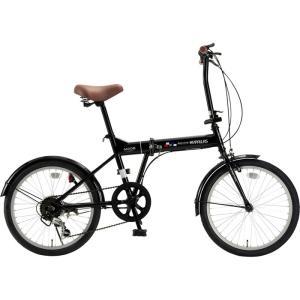 マイパラス M-208-BK 折畳自転車20インチ・6段ギア 折畳20・6SP (ブラック) (M208BK) dentarou