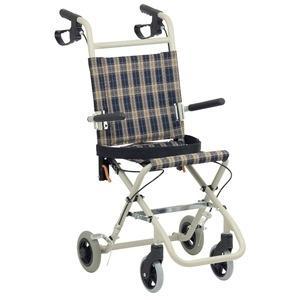 ds-1952235 コンパクト介助車 2020新作 無料 介助式車椅子 テイコブアルミ製 折り畳み 福祉用品〕 跳ね上げ式肘掛け ds1952235 〔介護用品 シートベルト付き
