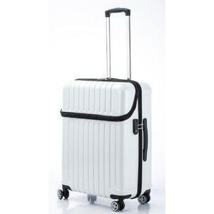 ds-2024939 トップオープン スーツケース/キャリーバッグ 【ホワイトカーボン】 Mサイズ 55L 『アクタス トップス』【代引不可】 (ds2024939)|dentarou