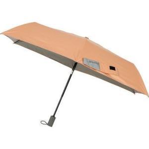イノベーター FF-02050 折りたたみ傘 自動開閉 日傘/晴雨兼用 ペールオレンジ 6本骨 55cm (FF02050)|dentarou