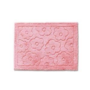 ds-2073380 バスマット/フロアマット 【約45×60cm ピンク】 吸水 抗菌 防臭 裏面滑り止め加工 『乾度良好 サニー』 (ds2073380)|dentarou
