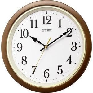 リズム時計 8MYA43-006 シチズン 電波時計 掛け時計 連続秒針 直径32cm(ブラウン) (8MYA43006)|dentarou