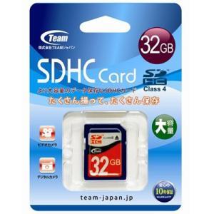 Team TG032G0SD24X SDHCカード 32GB Class4