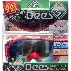 DEG-125-7 Dees 男女兼用 スキーゴーグル DEG-125-7 RD-BK/SM.YW 大人Fサイズ (RD-BK/SM.YW) (DEG1257)|dentarou